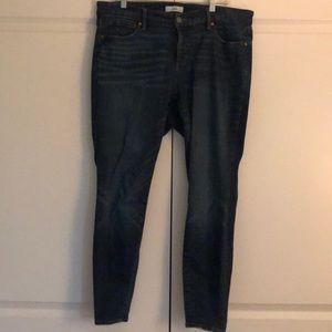 Loft Plus Lightly Destructed Skinny Jeans